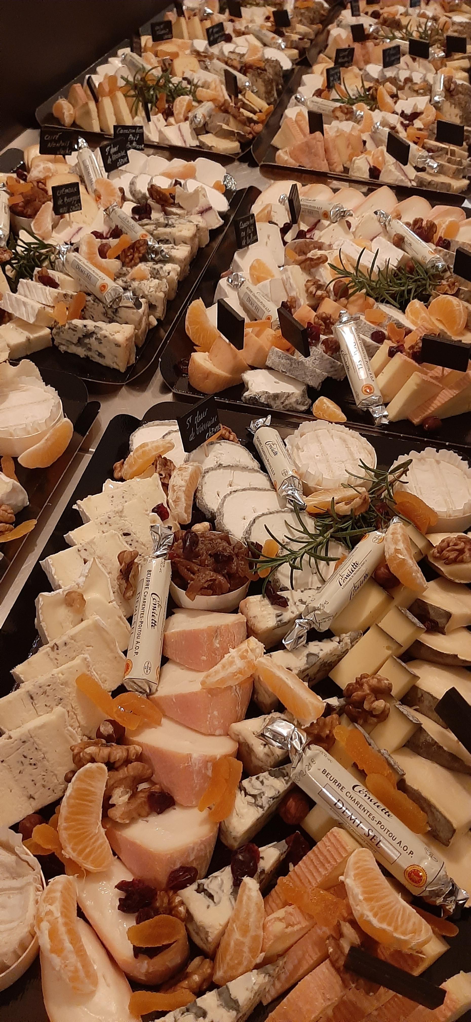 Plateau fromages fêtes de fin d'année