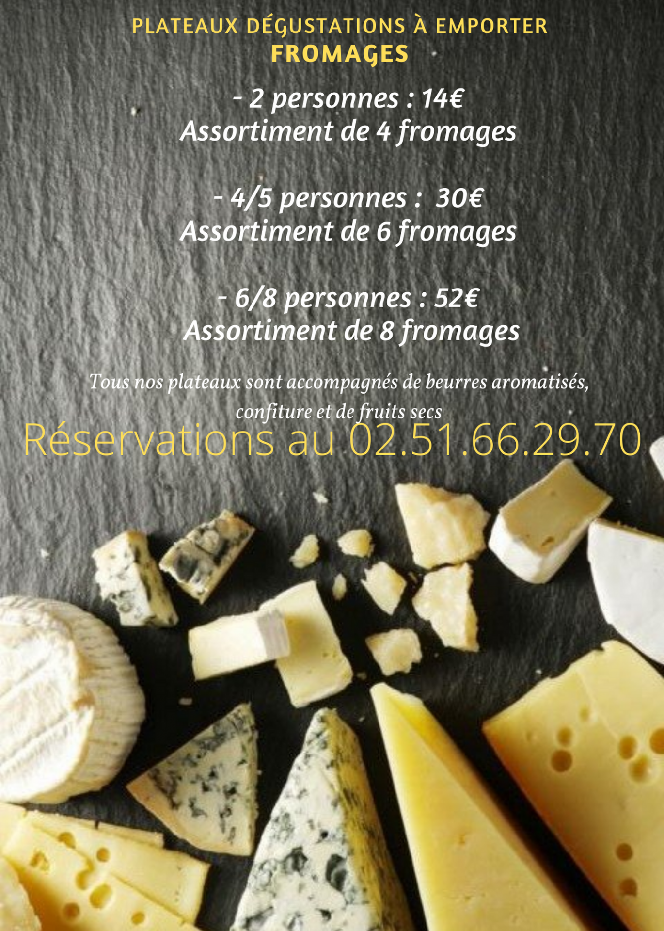 Plateaux degustations fromages